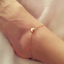 Fashion Foot jewellery Gold Colour heart anklets .