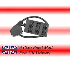 3 Way SCART Lead  /Cable / Wire Splitter Box Use 3 Devices in 1 Socket 1st class
