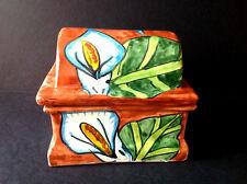 Vtg Mexican/Mexico Pottery Talavera Handpainted Decor Large Jewllery Trinket Box