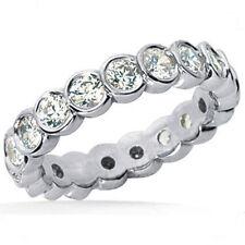 1.10 carat Round DIAMOND ETERNITY Band Half Bezel set Ring 14K Gold 22 x .05 ct