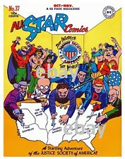 ALL-STAR COMICS #37 COVER PRINT DC Vintage art