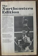 The Northeastern (University) Edition March 11, 1982 - Mark Halsel #1 Basketball