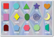 Shapes - NEW Classroom Geometry Math Poster
