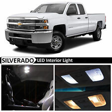 14x White Interior LED Lights Package Kit for 2007-2013 Chevy Silverado + TOOL