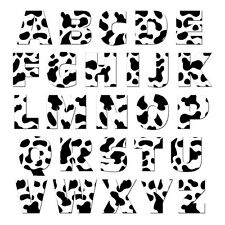 Alphabet Letters Uppercase Cow Print - MAG-NEATO'S™ Refrigerator Magnet Set