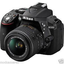 NIKON D5300 DSLR CAMERA BLACK AF 18-55 VR LENS 8GB CARD,BAG, VAT PAID INVOICE