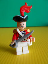 Lego King George Officer Minifig 4194 Whitecap Bay Pirates Black Pearl MINT!