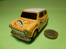 WELLY VINTAGE MORRIS MINI COOPER - YELLOW 1:32? RHD- RARE - GOOD - PULLBACK