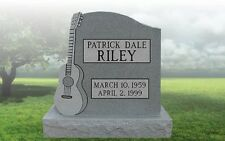 Granite Headstone Guitar Grave Marker Tombstone just add your text
