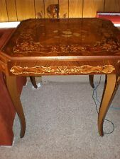 VINTAGE  ITALIAN  WOOD CARD TABLE, ROULETTE, BACKGAMMON, CHESS, CARDS ALL IN ONE