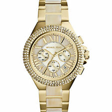 Michael Kors Women's watch Chronograph Camille Gold-Tone Stainless Steel MK5902