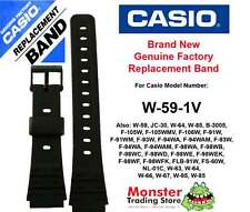 REPLACEMENT CASIO WATCH BAND ORIGINAL 18MM WOULD FIT: W59, W-59-1V + OTHERS