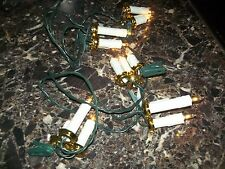 VINTAGE CHRISTMAS TREE LIGHTS - CLIP ON CANDLE CLUSTERS - 5 CLUSTERS OF 3 LIGHTS