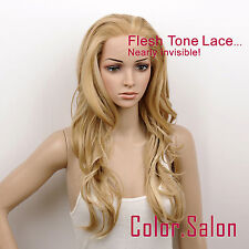 Hand-Tied Flesh Lace Front Synthetic Wigs Glueless Mixed Blonde 92#234F613 (F)