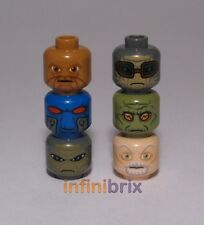 6x Lego Male Star Wars Alien / Jedi Heads, Eeth Koth, Cad Bane, Nute NEW lot210