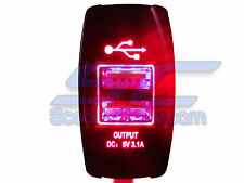 Boat USB Led Charger Waterproof Red Marine OffShore Houseboat Bass Sail Pontoon