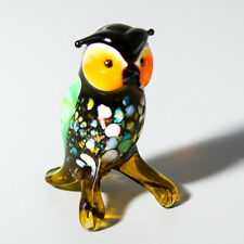 Souvenir. Owl. Blown glass. Lampwork. Russian Murano. Figure. Handmade.