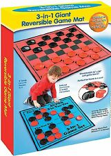 Kids Jumbo Checkers Game Rug Family Board Game Tic Tac Toe Giant floor Mat Piece