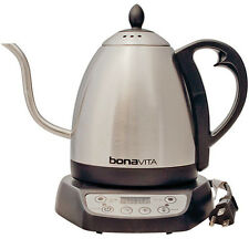 Stainless Steel Electric Kettle Water Heater Coffee Tea 1L Digital Goose Neck US