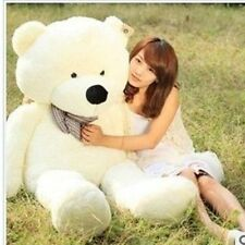 GIANT 80CM BIG CUTE Beige PLUSH TEDDY BEAR HUGE WHITE SOFT 100% COTTON TOY