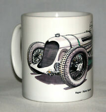 Classic Car Mug. Napier-Railton Special hand drawn illustration.