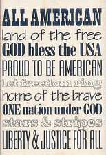 Patriotic Subway Art  XR1005 Stampabilities Rubber Stamp w/m Free Shipping New