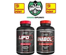 Nutrex Anabol-5 Test Booster + Lipo 6 Black Thermogenic Fat Burner Stack