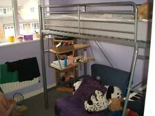 Metal Framed Bunk Bed With Desk And Single Futon