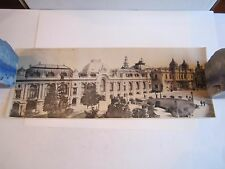 "(5) OLD PANORAMIC PHOTOS OF MONTE CARLO & NICE - 16"" X 6"" - SEE PICS - TUB OFCC"