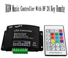 RF music controller 12/24v remote for 5pin rgbw led rgb+w light reel ribbon
