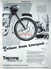 1953 TRIUMPH 'Tiger 100' Motor Cycle AD - Vintage Original Print ADVERT