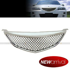 Fit 03-05 Mazda 6 CHROME FINISH HONEYCOMB MESH FRONT HOOD GRILL GRILLE