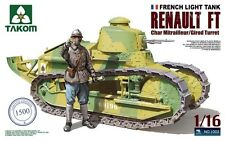 TAKOM 1002 1/16 French Light Tank Renault FT-17 w/Figures