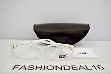 New Montblanc Authentic MB 380 White Pearl MB380 021 56-15-135 RX Eyeglasses