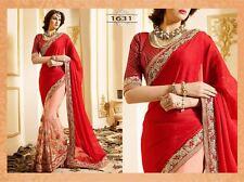 Bollywood Indian Party Wear Saree Sari Bridal Pakistani Wedding Bridal Saree