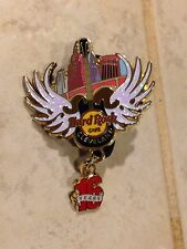 Hard Rock Cafe 2014 Cleveland 16th Anniversary Winged Guitar Dangler 16 Year Pin