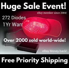 LLLT Laser Cap ReGrowth Therapy System! 272 Diodes! Free 2nd battery pack!
