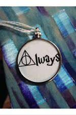 Harry Potter Sayings doublesided Silver Charm Pendant Always White Background
