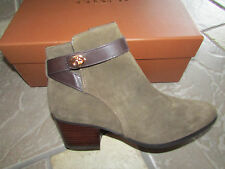 NEW COACH PATRICIA SUEDE ANKLE BOOTIES BOOTS FATIGUE CHESTNUT WOMENS 9.5 A00236