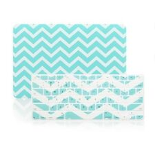 "Matte Chevron HOT BLUE Case + Keyboard Cover Macbook Pro 13"" Retina A1425/A1502"