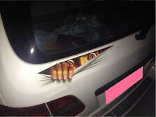 Car SUV Tank Off Road Thrilling Eyes Peeking  Exterior Windshield Sticker  Badge