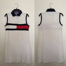 Vintage 90s TOMMY HILFIGER Women's Sleeveless Colorblock Polo Shirt Dress Large