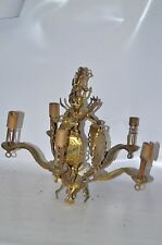 Antique Vintage Art Deco Ornate Ceiling Hanging  Light Fixture ~ lamp Brass