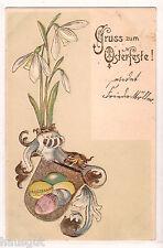 Gruss zum Osterfeste Wappen Präge AK 1902
