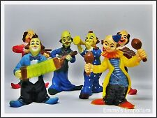 Vintage Kitsch Circus Clown Cake Decoration Toppers - Set of 6 Musicians