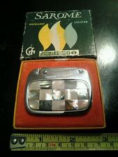 Vintage Rare Collectors, Sarome 1960's Art Deco Lighter, Unused With Box! NR.