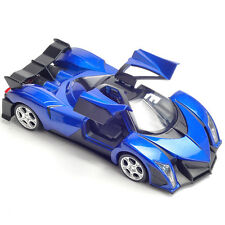 Gifts Diecast Devel Sixteen Super Car Model 1:32 Toy Sound&Light Alloy Blue New
