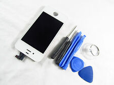 New White LCD Digitizer Frame Assembly for iPhone 4S With tools