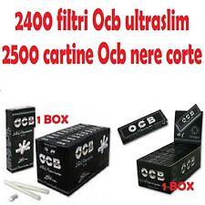 2400 filtri Ocb ultraslim + 2500 cartine Ocb nere corte