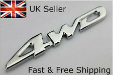 4wd Silver Chrome 3D Emblem Badge 4x4 Four Wheel Drive Car Sticker Logo Decal
